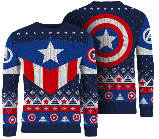 Front and Back View Captain America Jumper